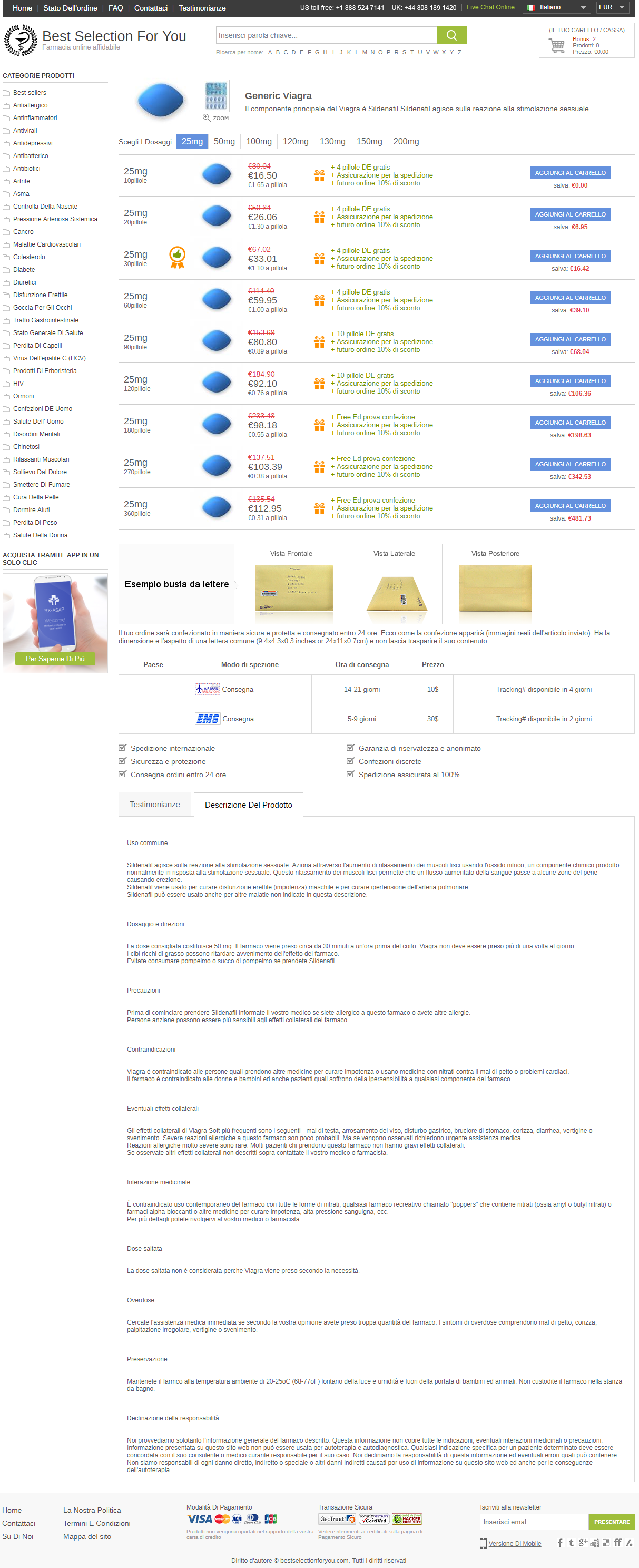 farmaco x disfunzione erettile generico in farmacia online